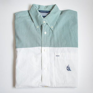 Nautica Color Block Long Sleeve Button Down